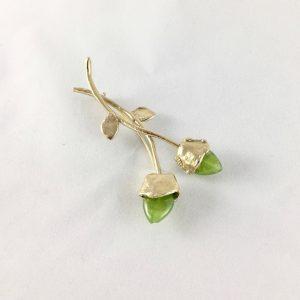 Broche Tulipán doble